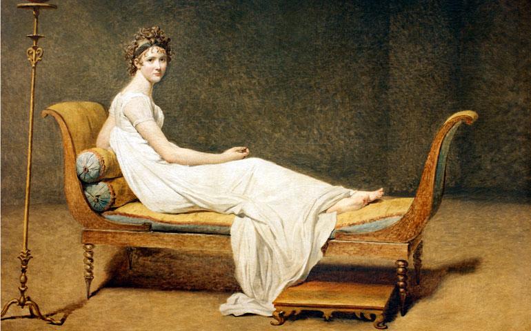 Y en el diván... Madame Récamier, de Jacques-Louis David.