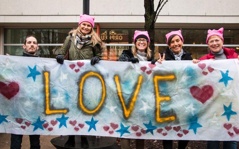 marcha de las mujeres contra trump